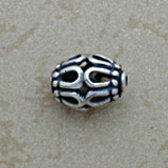 Cast Bali silver beads