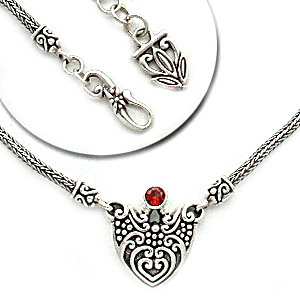 Bali motif silver necklaces